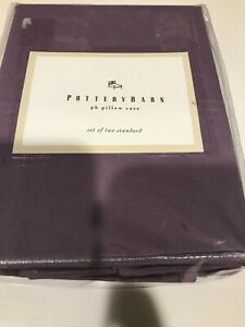 Pottery Barn pb Standard Pillowcases 200 Thread Set of 2 plum NEW purple