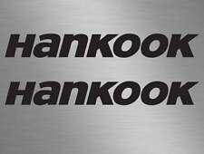 2 x Hankook Tyres Car Surf Van Vinyl Race Decals Stickers Door, Window, Stack