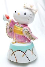 Kimono Maiko Hello Kitty Music box Ceramic Lace Doll pink Porcelain figures FS