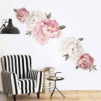 12 Styles Peony Rose Flower Wall Decal Nursery Home Kid Sticker Decor Art Mural