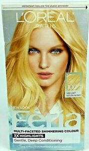 L'Oreal Paris Feria Multi-Faceted Shimmering Permanent Hair Color 100 Pure Di...