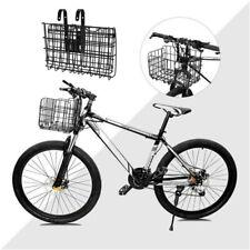 Foldable Bike Basket Wire Mesh Bicycle Front Handlebar Storage Rear Hanging New