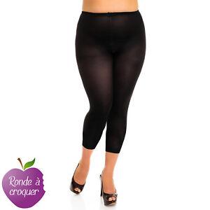 Grande taille - Legging / collant sans pied noir opaque 80D 48 50 52 54 56 58