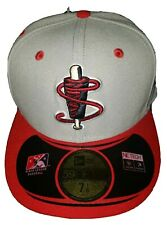 LOWELL SPINNERS MINOR LEAGUE NEW ERA (5950) FITTED HAT (7 1/8) NWT $35 GRAY/RED