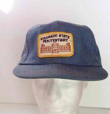 Vintage DENIM Snapback Adjustable PRISON Cap/Hat COLORADO STATE PENITENTIARY
