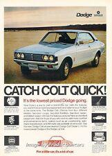 1972 Dodge Colt by Mitsubishi Original Advertisement Print Art Car Ad H80