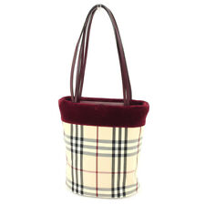 Burberry Tote bag Beige Red Woman Authentic Used T5048