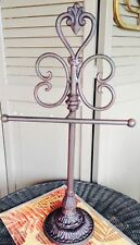 Brown Cast Iron Tabletop Hand Towel/ Toilet Paper/Jewelry/Rack~or Store Display