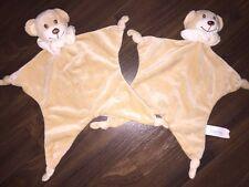 1 Stück - Bambia Aldi Teddybär Bear Braun Weiß Schmusetuch Schnuffel Kuscheltuch