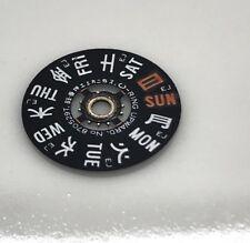 Seiko 6139 & 6138 Chrono week Calendar Wheel Disk 6002 Japan  English @ 3 Kanji