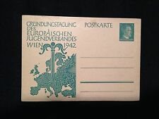 Mint WW2 German Prepaid Hitler Stamp Postcard