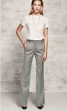 NEW ZARA LADIES GREY STRAIGHT SMART TALL WORK TROUSERS LONG LARGE UK 12/14 Z170