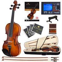 Cecilio CVN-300 Ebony Fitted Violin 4/4 3/4 1/2 1/4