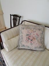 """COUNTRY HOUSE NEEDLEWORK CUSHION TAPESTRY ANTIQUE STYLE CHELSEA TEXTILES 22"""""""