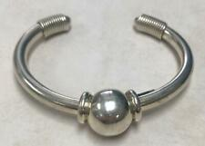 ~ C: 6 ~ 25.6g ~ 5-A1060 Sterling Silver Unique Cuff Bracelet from Mexico