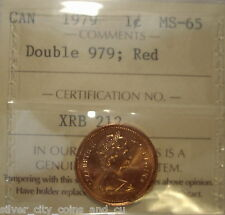 "Canada Elizabeth II 1979 ""Double 979"" Small Cent - ICCS MS-65 (XRB-212)"