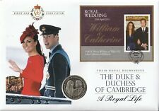 BVI 29 APRIL 2011 ROYAL WEDDING MINIATURE SHEET COIN FIRST DAY COVER