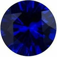 1.5 ct Sapphire New Vintage Genuine Corundum Swiss Made Synthetic Stone 7 mm