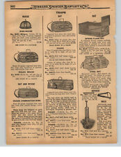 1927 PAPER AD Wire French Rat Mouse Traps Repeat Steel Delusion Choker Gladiator