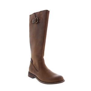 Harley-Davidson Keyser D84486 Womens Brown Leather Strap Knee High Boots