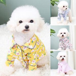 Luxury Dog Pajamas Pet Small Medium Dog Clothes Coat Yorkies Bulldogs Jacket