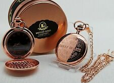 Sgt Pepper The Beatles Rose Gold Pocket Watch Metal Gift Case Drums Design Album