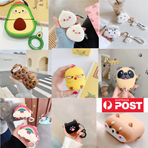 Cartoon Case For Airpod Pro case Shockproof Cover Skin Anti Lost Strap Holder
