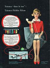 PUBLICITE ADVERTISING 014   1958   PHILDAR  laine machine à tricoter