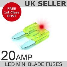LED 20A Amp Mini fusibili a lama quantità 10
