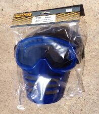 New Blue Vintage  MOTOCROSS GOGGLES WITH MASK. LIKE OLD SCOTT MASKS    AHRMA