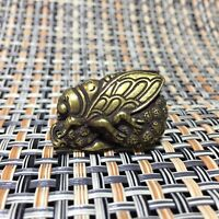 Collection Old Chinese Ox horn Hand carving Bamboo Cicada oxhorn statue Pendant