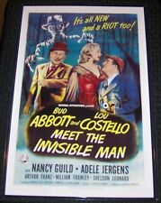 Abbott and Costello Meet the Invisible Man 11X17 Universal Movie Poster