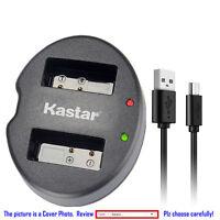 Kastar Battery Dual USB Charger for Fujifilm NP-W126 BC-W126 & Fujifilm X-PRO1