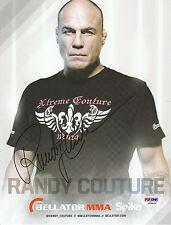 RANDY COUTURE SIGNED AUTO'D 8X10 PHOTO PSA/DNA UFC 15 28 43 44  BELLATOR PROMO B