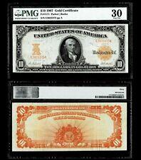 fr#1171 1907 $10 Gold Certificate FR 1171 PMG VF30