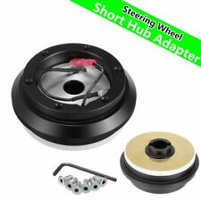Steering Wheel Short Hub Adapter Billet Black Kits For Acura Honda Civic Accord