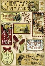 "Holy Night Karen Foster Vintage Cardstock Stickers 10962 Merry Christmas 5.5""x8"""