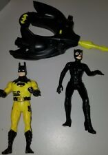 Vtg 1990 DEEP SEA DIVER BATMAN w/ Submersible by Kenner/DC Comics + Catwoman lot