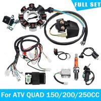 Wiring Harness Loom Solenoid Coil CDI Full Kits for ATV QUAD 150/200/250CC UK