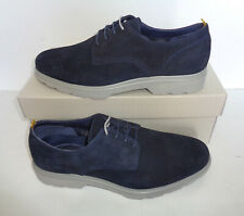 Ask The Missus Mens Navy Suede Leather Office Formal Shoes New UK Size 8 9 10 11
