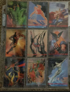 1993 Skybox Marvel Masterpieces Trading Cards COMPLETE BASE SET, #1-90, NM/M!