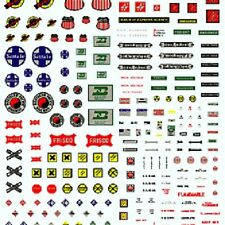 Woodland Scenics DT571 Mini Railroad Signs Dry Transfer Decals Many Kinds