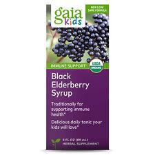 Gaia Herbs GaiaKids Black Elderberry Syrup, 3 Ounces