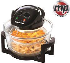 Daewoo 2 In 1 Deluxe Glass Air Fryer Deep Fat Free Frying Healthy No Oil Cooker