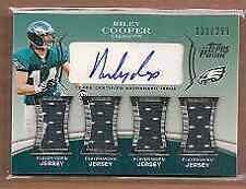 2010 Topps Prime Autographed Relics Level 5 #PL5RC Riley Cooper Auto Jersey /299