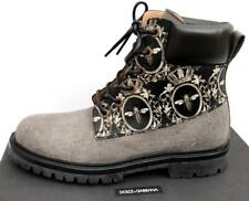 Dolce Gabbana Leather Boots UK9 IT43, US10 RP790GBP Black/Grey New Auth