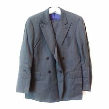 PAUL SMITH Double Breasted Wide Lapels Grey Suit UK 44