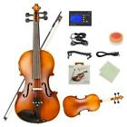 Professional 4/4 Acoustic Soild Wood EQ Violin Set with Bow Rosin Case Strings for sale