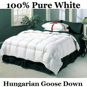 Luxury King Bed Size 13.5 Tog 100% Pure Hungarian Goose Down Duvet / Quilt