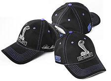 Carroll Shelby Signed Signature Black & Blue Cotton Hat GT500 GT350 Cobra Logos